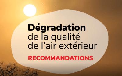 PREVENTION : Dégradation de la qualité de l'air extérieur